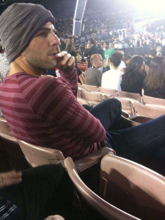 Zachary Quinto at U2